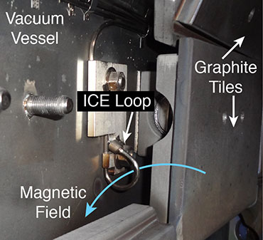 ICE Loop installed on the DIII-D vacuum vessel.