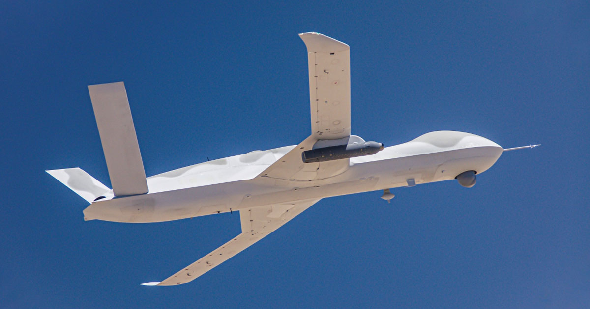 GA-ASI Avenger Equipped with Lockheed Martin Legion Pod Autonomously Follows Target Aircraft