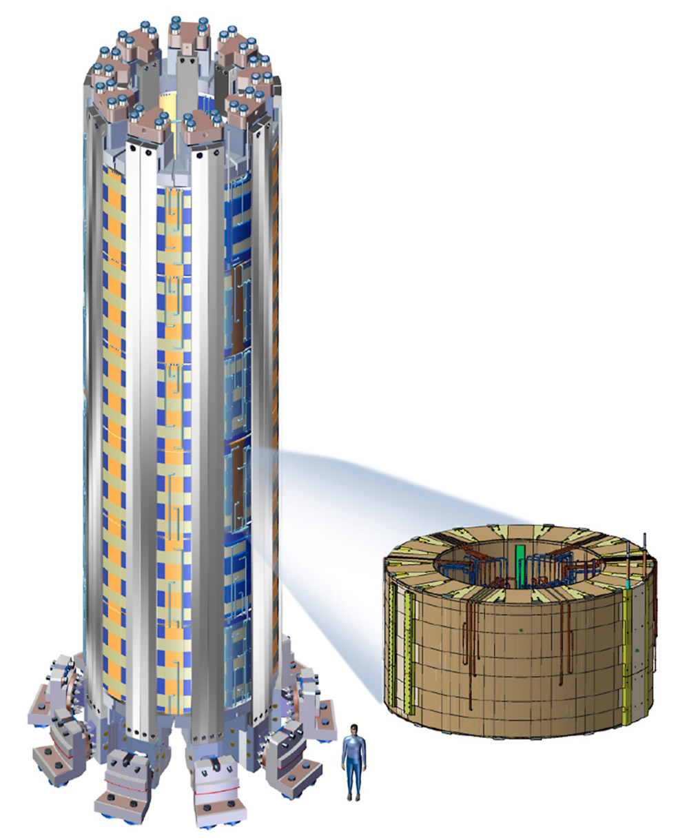 ITER Central Solenoid consists of 6 modules and a structure with an overall height of 59 feet